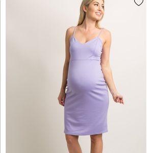 PinkBlush Sweetheart Fitted Maternity Dress